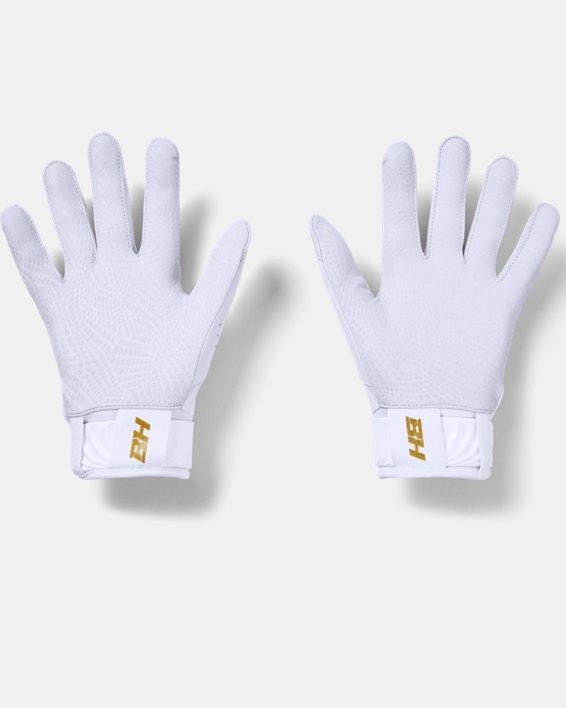 Men's UA Harper Pro Batting Gloves, White, pdpMainDesktop image number 1