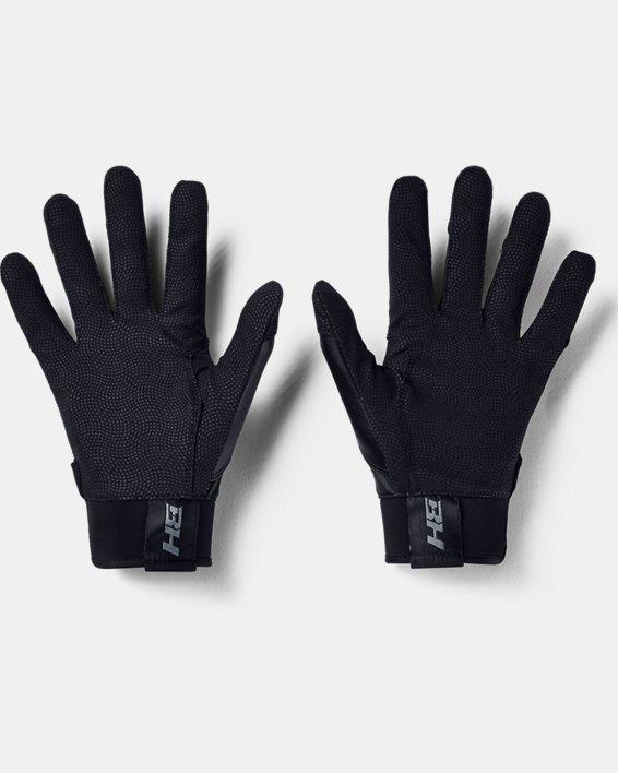 Men's UA Harper Hustle Batting Gloves, Black, pdpMainDesktop image number 1