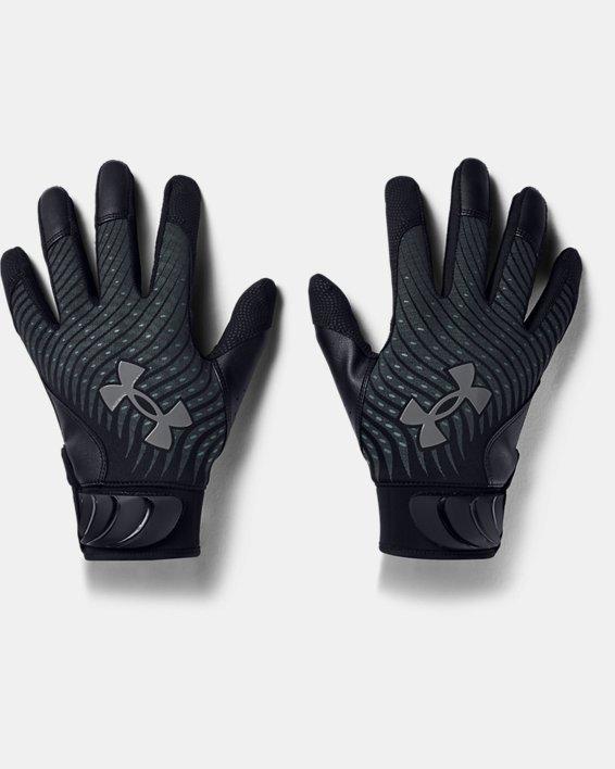 Men's UA Harper Hustle Batting Gloves, Black, pdpMainDesktop image number 0