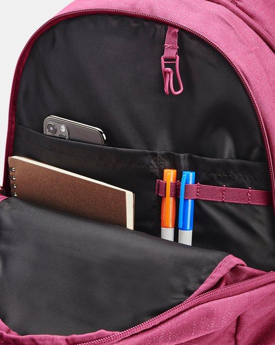 Women's UA Hustle Signature Backpack, Red, pdpMainDesktop image number 2
