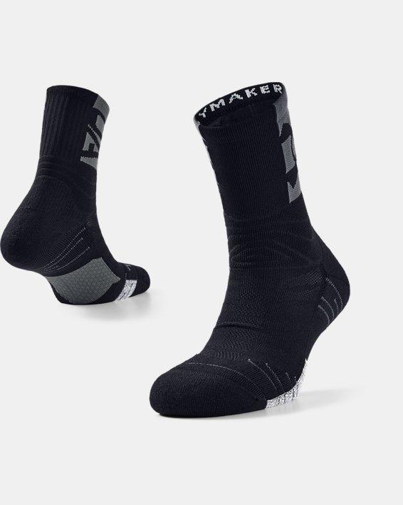 Unisex UA Playmaker Crew Socks, Black, pdpMainDesktop image number 0