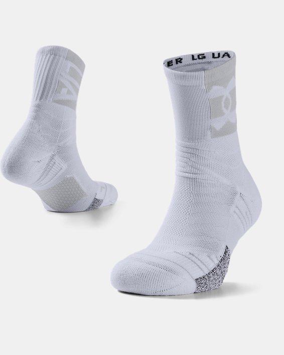 Unisex UA Playmaker Crew-Socken, White, pdpMainDesktop image number 0