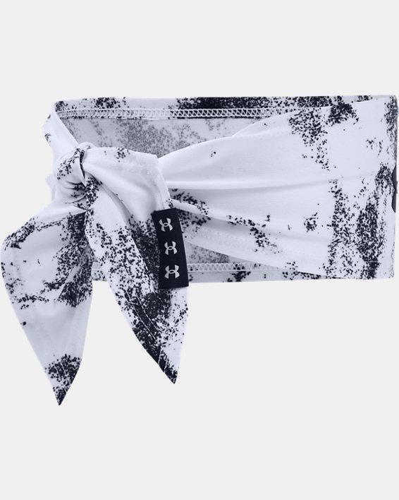 Unisex UA Tie Headband Printed, White, pdpMainDesktop image number 1