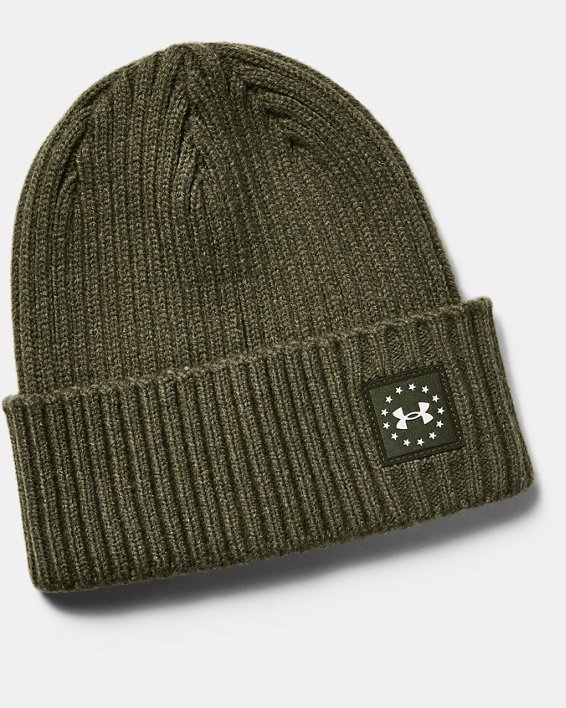 Men's UA Freedom Patch Beanie, Green, pdpMainDesktop image number 0
