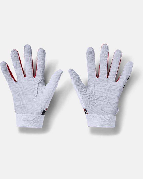 Youth UA Clean Up Culture Batting Gloves, White, pdpMainDesktop image number 1