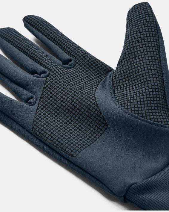 Men's UA Graphic Liner Gloves, Blue, pdpMainDesktop image number 2