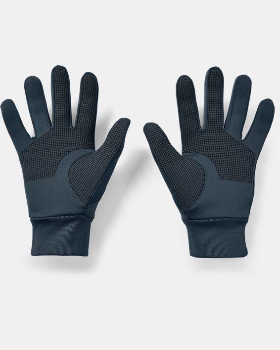 Men's UA Graphic Liner Gloves, Blue, pdpMainDesktop image number 1