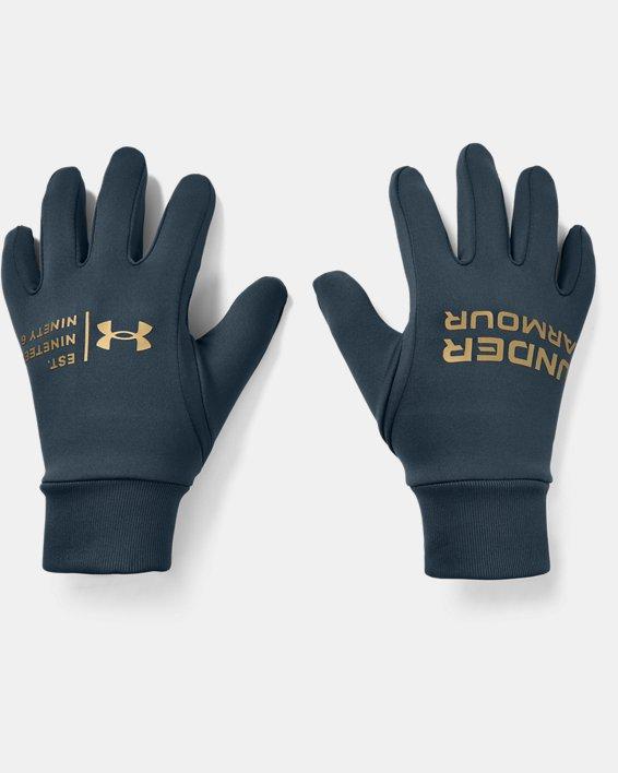 Men's UA Graphic Liner Gloves, Blue, pdpMainDesktop image number 0