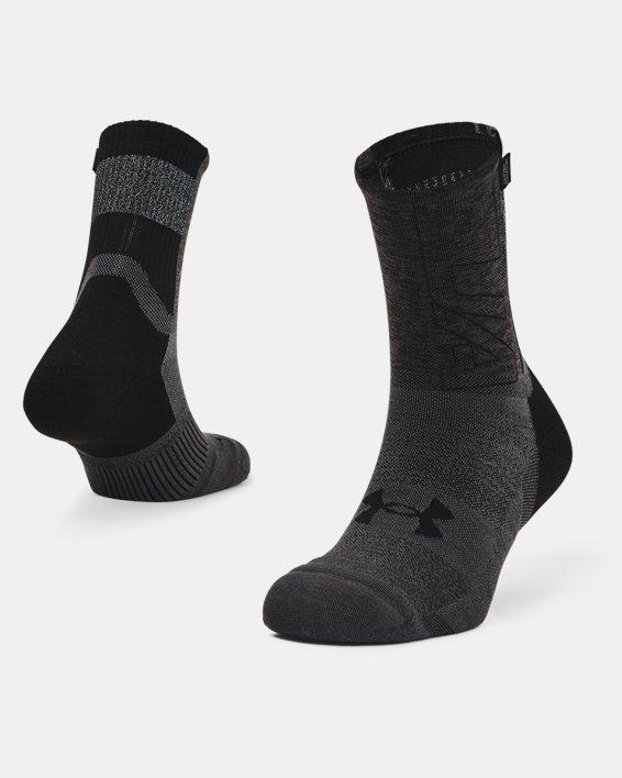 Unisex UA Armour Dry™ Run Crew Socks, Black, pdpMainDesktop image number 0