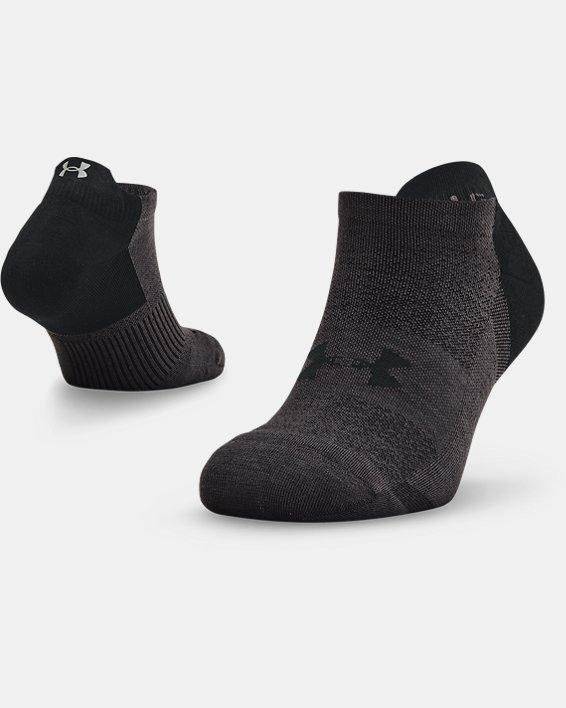 Unisex UA Armour Dry™ Run No Show Socks, Black, pdpMainDesktop image number 0