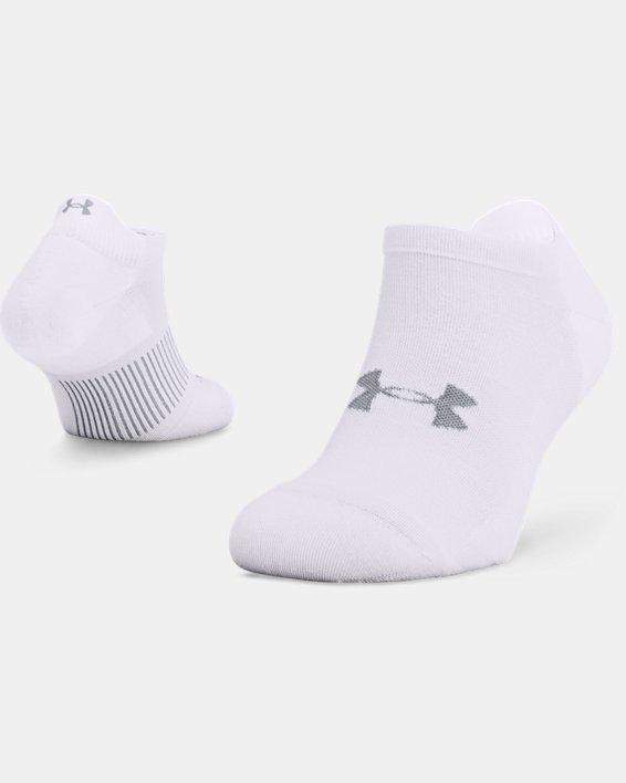 Unisex UA Armour Dry™ Run No Show Socken, White, pdpMainDesktop image number 0