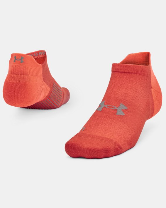 Unisex UA Armour Dry™ Run No Show Socken, Orange, pdpMainDesktop image number 0