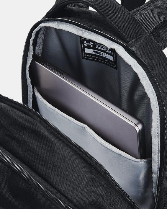 UA Hustle 5.0 Backpack, Black, pdpMainDesktop image number 3
