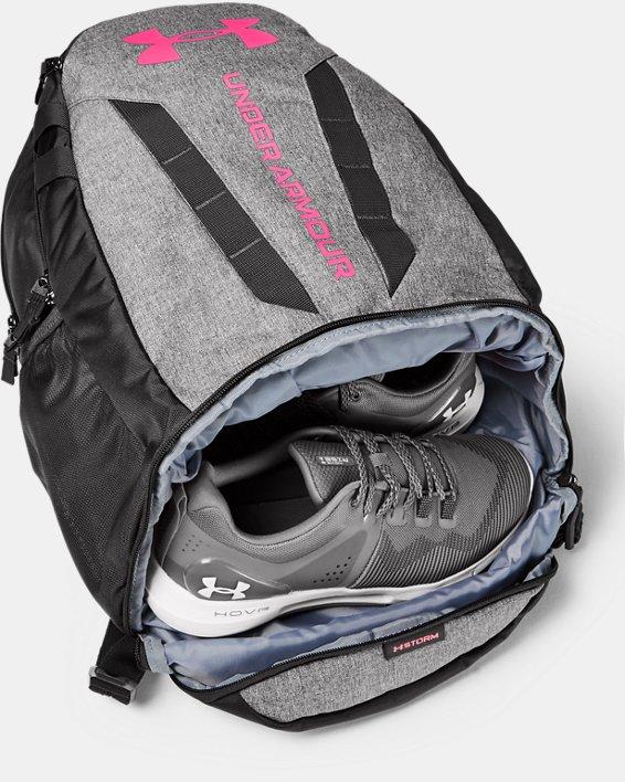 UA Hustle Backpack, Gray, pdpMainDesktop image number 2