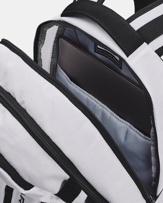 UA Hustle 5.0 Backpack, White, pdpMainDesktop image number 3