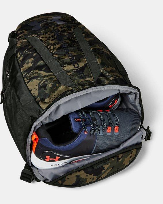 UA Hustle Backpack, Green, pdpMainDesktop image number 2