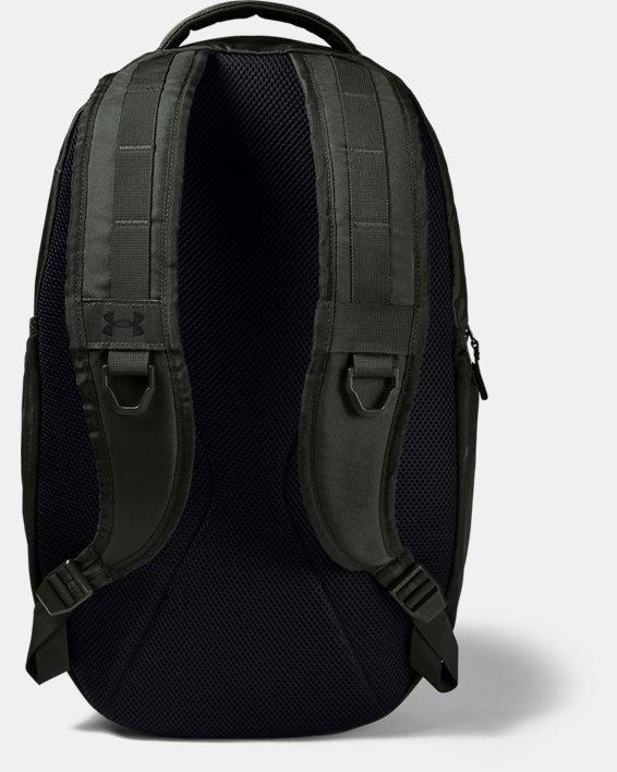 UA Hustle Backpack, Green, pdpMainDesktop image number 1