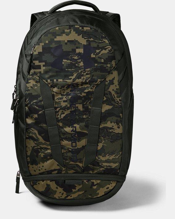 UA Hustle Backpack, Green, pdpMainDesktop image number 0