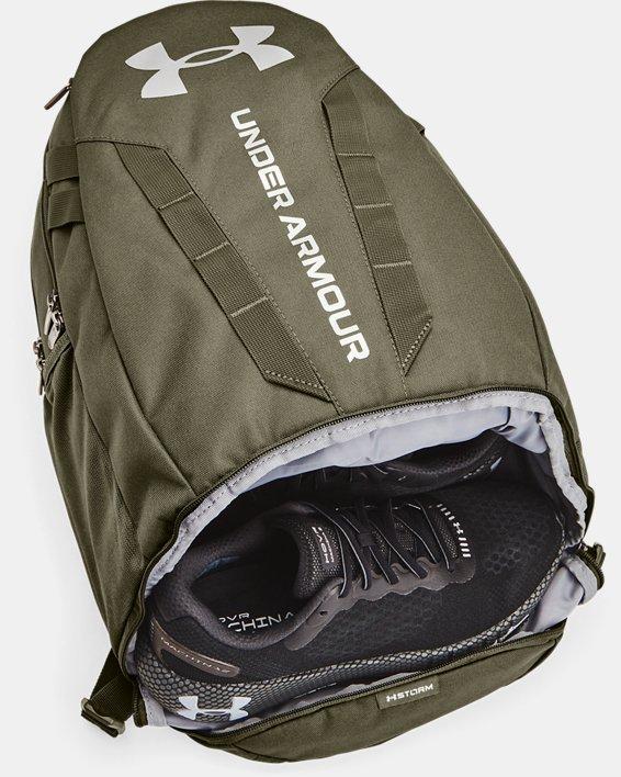 UA Hustle 5.0 Backpack, Green, pdpMainDesktop image number 5