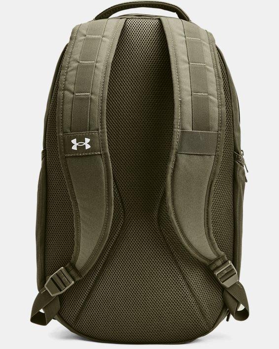 UA Hustle 5.0 Backpack, Green, pdpMainDesktop image number 2