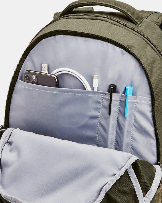 UA Hustle 5.0 Backpack, Green, pdpMainDesktop image number 3