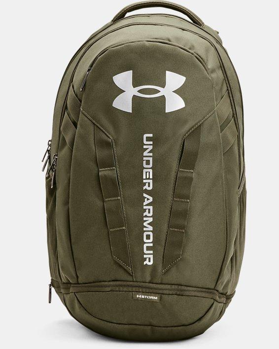UA Hustle 5.0 Backpack, Green, pdpMainDesktop image number 1