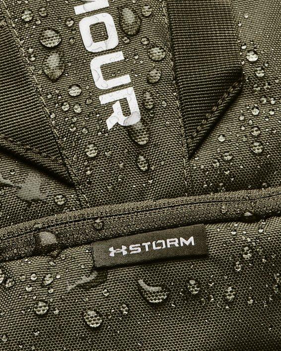 UA Hustle 5.0 Backpack, Green, pdpMainDesktop image number 6