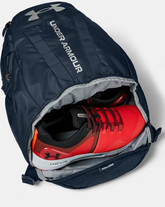 UA Hustle Backpack, Navy, pdpMainDesktop image number 3