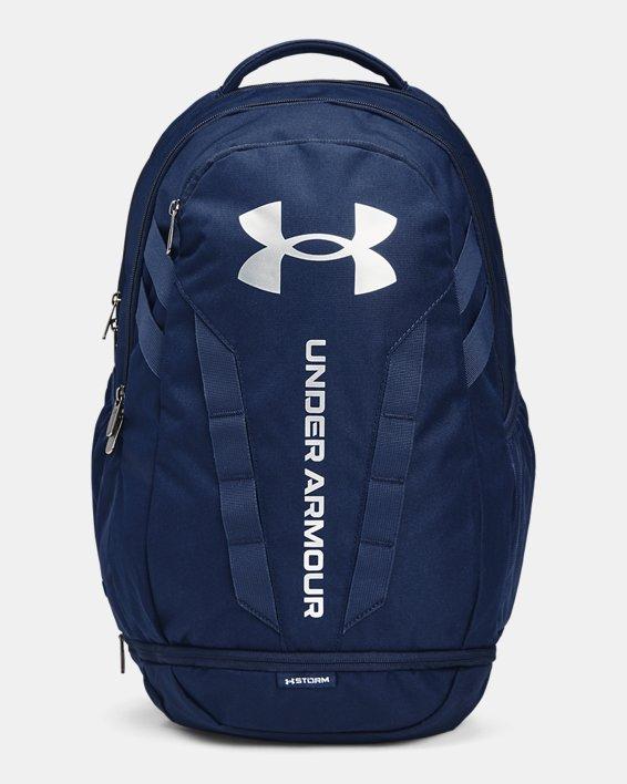 UA Hustle Backpack, Navy, pdpMainDesktop image number 1