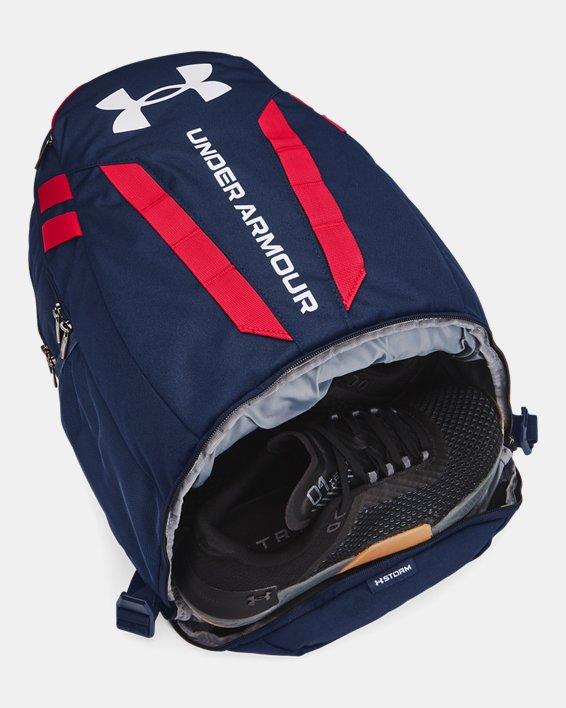 UA Hustle Backpack, Navy, pdpMainDesktop image number 2