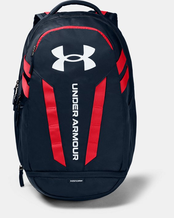 UA Hustle Backpack, Navy, pdpMainDesktop image number 0