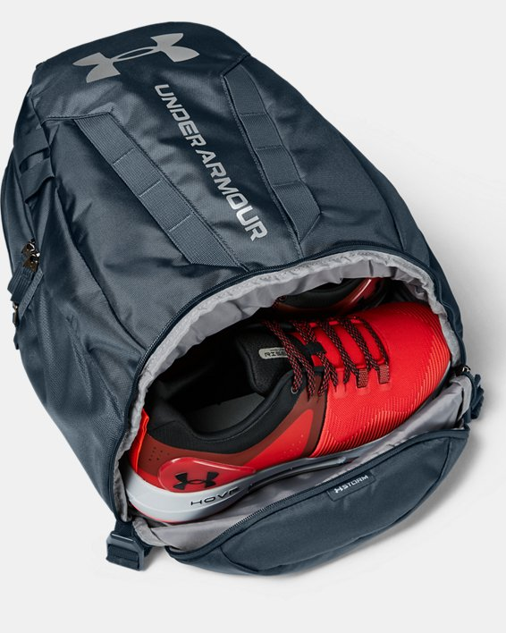 UA Hustle Backpack, Blue, pdpMainDesktop image number 2