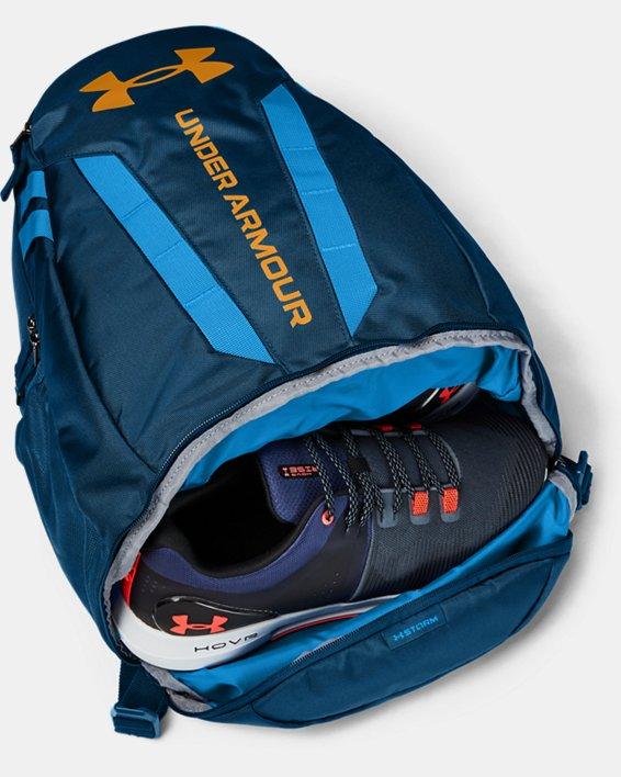 UA Hustle Backpack, Blue, pdpMainDesktop image number 2