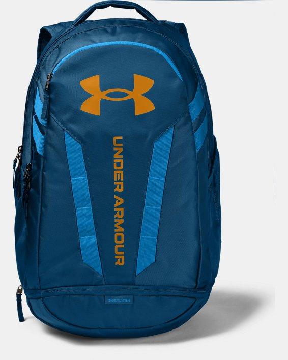 UA Hustle Backpack, Blue, pdpMainDesktop image number 0