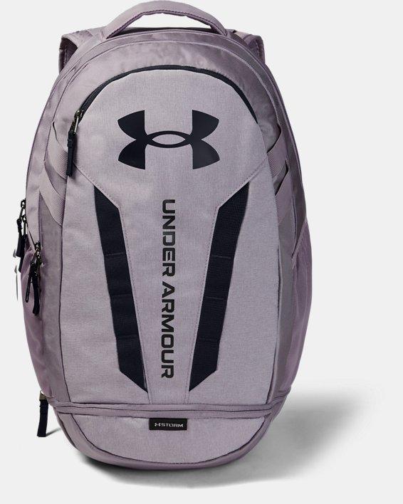 UA Hustle Backpack, Purple, pdpMainDesktop image number 0