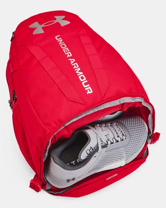 UA Hustle Backpack, Red, pdpMainDesktop image number 3