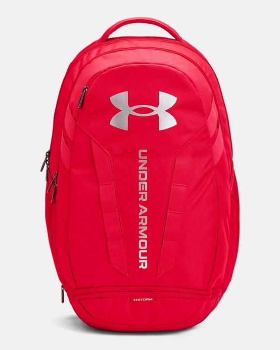 UA Hustle Backpack, Red, pdpMainDesktop image number 1