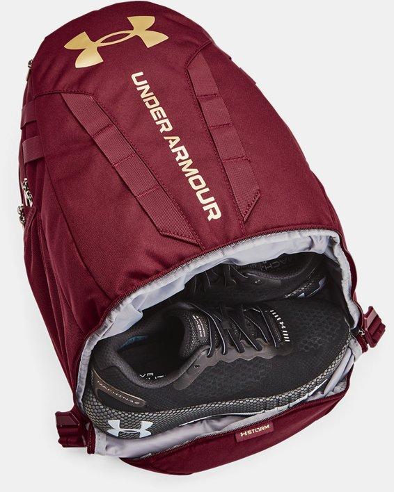 UA Hustle 5.0 Backpack, Red, pdpMainDesktop image number 4