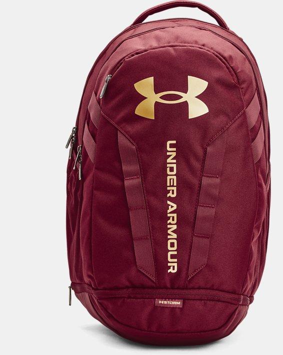 UA Hustle 5.0 Backpack, Red, pdpMainDesktop image number 0