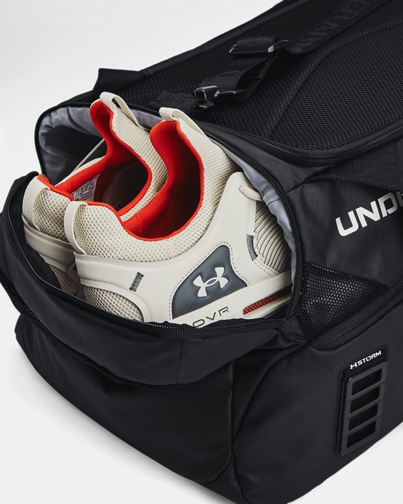 Unisex UA Contain Duo Mittelgroße Duffle-Tasche, Black, pdpMainDesktop image number 5