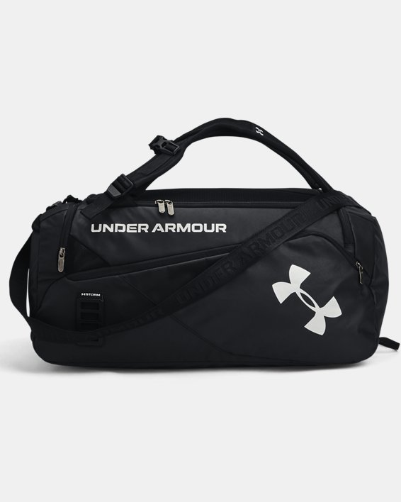 Unisex UA Contain Duo Mittelgroße Duffle-Tasche, Black, pdpMainDesktop image number 1
