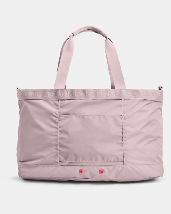 Women's UA Essentials Signature Tote Bag, Pink, pdpMainDesktop image number 2
