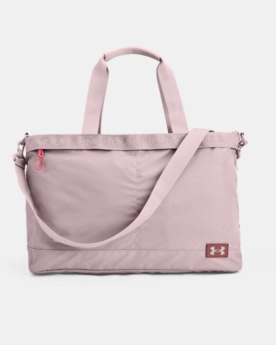 Women's UA Essentials Signature Tote Bag, Pink, pdpMainDesktop image number 1