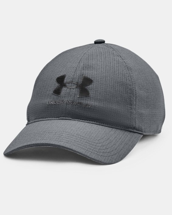 Men's UA Iso-Chill ArmourVent™ Adjustable Hat, Gray, pdpMainDesktop image number 0