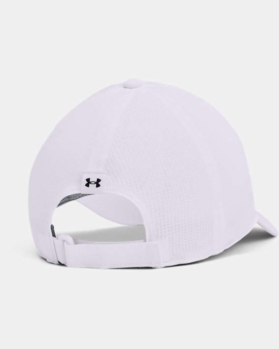 Men's UA Iso-Chill ArmourVent™ Adjustable Hat, White, pdpMainDesktop image number 1