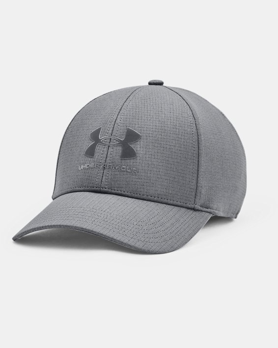 Men's UA Iso-Chill ArmourVent™ Stretch Hat, Gray, pdpMainDesktop image number 0