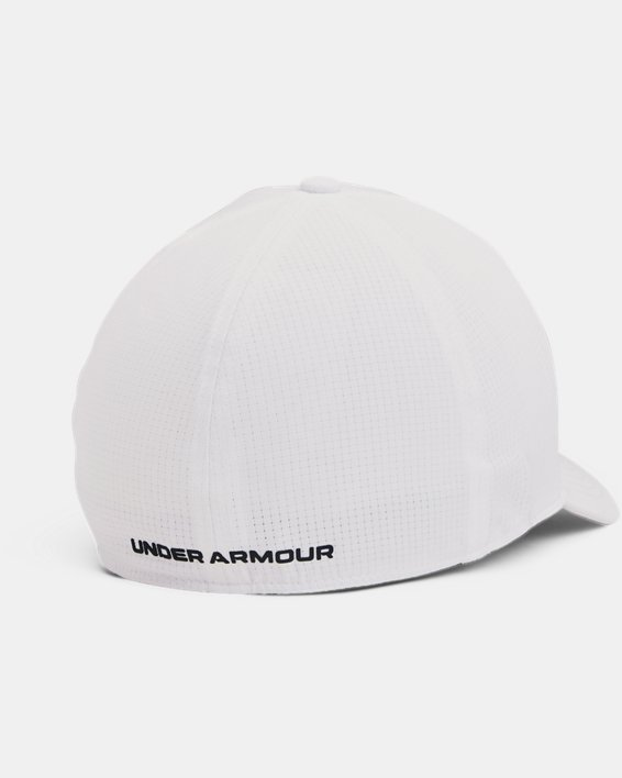 Men's UA Iso-Chill ArmourVent™ Stretch Hat, White, pdpMainDesktop image number 1