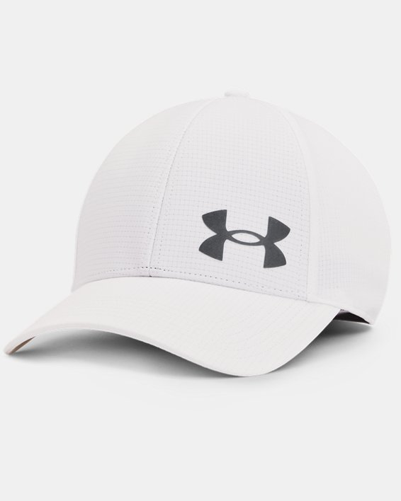 Men's UA Iso-Chill ArmourVent™ Stretch Hat, White, pdpMainDesktop image number 0