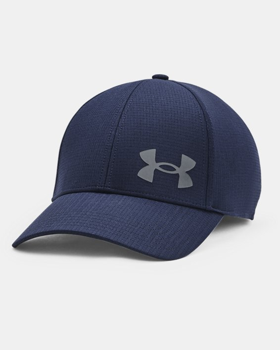 Men's UA Iso-Chill ArmourVent™ Stretch Hat, Navy, pdpMainDesktop image number 0