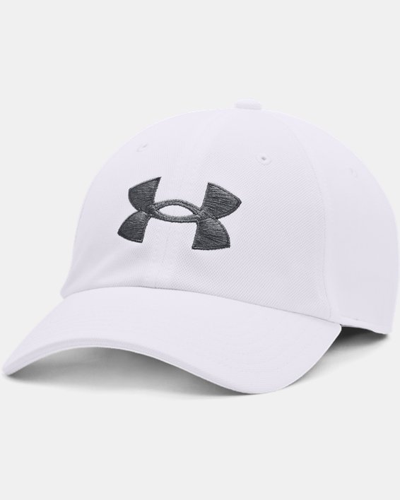 Men's UA Blitzing Adjustable Hat, White, pdpMainDesktop image number 0